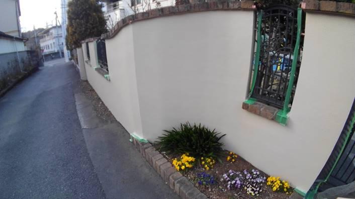 擁壁 塗装