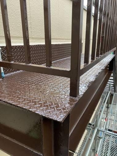 階段部 塗装