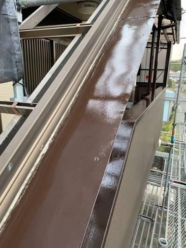 階段手摺 塗装