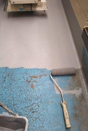 ベランダ床 防水塗装