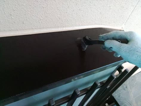 出窓上 塗装