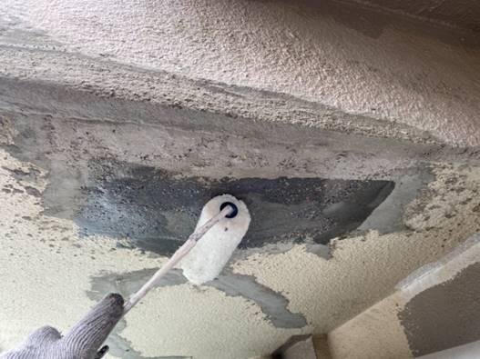 軒天 補修・修繕作業