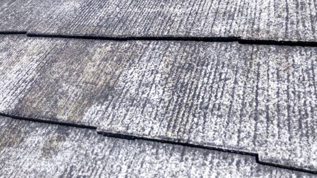 屋根 タスペーサー設置作業