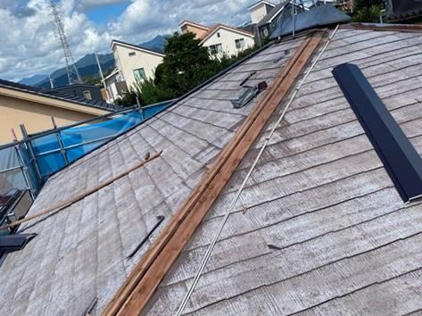 屋根 棟板金・棟木交換